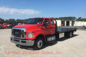 2017 Ford F650 Extended Cab Tow Truck For Sale - Jerr Dan Steel Carrier Flatbed. Towing, Recovery, Transport