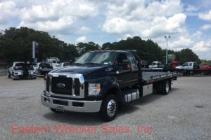 2017 Ford F650 Extended Cab Tow Truck For Sale. Jerr Dan Car Carrier Flatbed - Towing, Recovery, Transport.