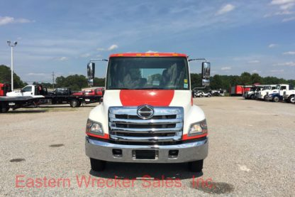 2014 Hino 258 With a Jerr Dan Tow Truck For Sale - Steel Car Carrier Flatbed. Towing and Recovery.