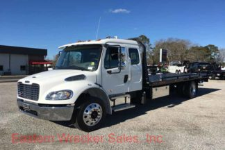 F Freightliner Tow Truck Jerr Dan M Car Carrier Flatbed Steel Rollback Wrecker X on Used Extended Cab Rollback Wreckers Sale