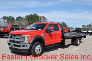 2017 Ford F550 Super Cab Lariat 4x4 with 20' Jerr-Dan SRR6T-WLP Steel Carrier
