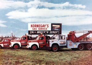 Kornegay's 24 Hour Wrecker Fleet in 1966