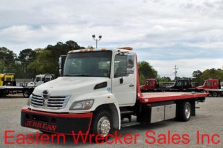 2010 Hino 258 with 21' Jerr-Dan Steel Carrier, Stock #U0721A