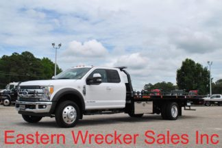 2017 Ford F550 Extended Cab Lariat with 20ft Jerr-Dan SRR6T-WLP Steel Carrier, Stock #F3100