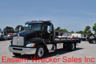 2019 Kenworth T270, 300hp, Allison, with 22ft Jerr-Dan SRR6T-WLP Steel Carrier, Stock #K6288