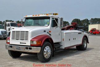 2000 International, DT466, 13-spd, Jerr-Dan MDL280-110 14-ton Wrecker, Stock #U0975A