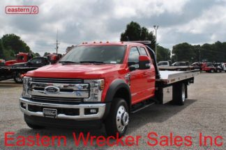 2018 Ford F550 Lariat 4x4 Extended Cab with 20ft Jerr-Dan NGAF6T-WLP Aluminum Carrier Stock #F5846A