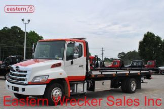 2014 Hino 258LP-B with21ft Jerr-Dan RRSB Steel Carrier, Stock #U0813