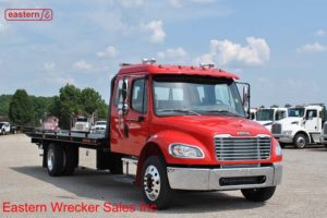 2019 Freightliner M2 Ext Cab with 22ft Jerr-Dan SRR6T-WLP Low Profile Steel Carrier Stock #F9393
