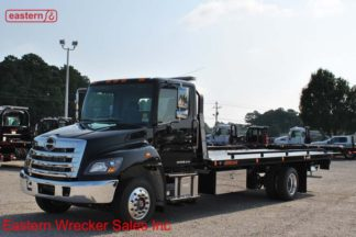 2019 Hino 258ALP-A Air Ride Air Brake with 22ft Jerr-Dan SRR6T-WLP Low Profile Steel Carrier Stock #H2486