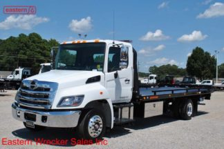 2019 Hino 258ALP-A Air Brake Air Suspension with 22ft Jerr-Dan SRR6T-WLP Steel Carrier Stock #H2494