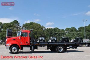 2019 Peterbilt Air Brake Air Ride with 22ft Jerr-Dan SRR6T-WLP Steel Carrier Stock #P7758