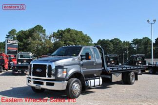2016 Ford F650 Extended Cab 6.7L turbodiesel air-brake air-ride with 21ft Chevron steel carrier, Stock #U3451