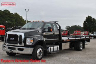 2018 Ford F650 Ext Cab, Air Brakes, Air Ride, 22ft Jerr-Dan SRR6T-WLP Steel Carrier, Stock #F4536