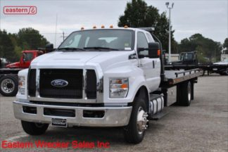 2018 Ford F650 Ext Cab, Hydraulic Brakes, Spring, 22ft Jerr-Dan SRR6T-WLP Steel Carrier, Stock #F5935