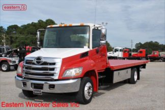 2012 Hino 258 Air Brake Air Ride with 22ft Jerr-Dan SRR6T-WLP Steel Carrier Stock #U1017