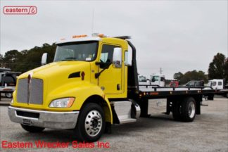 2019 Kenworth T270 300hp Air Ride Air Brake with 22ft Jerr-Dan SRR6T-WLP Steel Carrier Stock Number K0970
