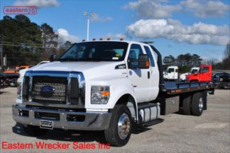 2019 Ford F650 Ext Cab 6.7L Turbodiesel Auto Air Ride Air Brake 22ft Jerr-Dan Steel Carrier Stock Number F5566