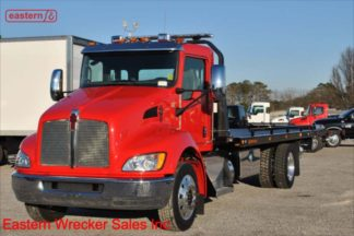 2019 Kenworth T270 300hp Navigation Air Ride with 22ft Jerr-Dan Steel Carrier Stock Number K1018