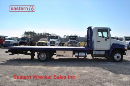 2013 Hino 258, J08E-TV Turbodiesel, air ride, air brake, Allison automatic, with 21ft Century Steel Carrier, Stock Number U1179A