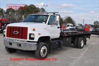 1997 Chevrolet C6500, 3116 CAT, 6-spd manual, 19ft Jerr-Dan WSR Steel Carrier, IRL Wheellift, Stock Number U6328B
