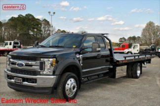 2019 Ford F550 Extended Cab 4x4 6.7L Turbodiesel Automatic with 20ft Jerr-Dan SRR6T-WLP Steel Carrier, Stock Number F3654