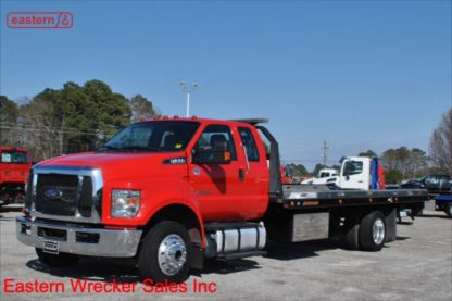 2017 Ford F650 Ext Cab 6.7L Powerstroke Ford TorqShift Automatic, Air Brake, Air Ride, 22ft Jerr-Dan Steel Carrier, Stock #U0018