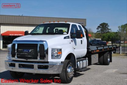 2019 Ford F650 Extended Cab, 6.7L PowerStroke Turbodiesel, Automatic, 22ft Jerr-Dan SRR6T-WLP Steel Carrier, Stock Number F5561