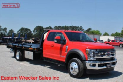2019 Ford F550 Ext Cab Lariat 4x4 with 20ft Jerr-Dan SRR6T-WLP Steel Carrier, Stock Number F9501