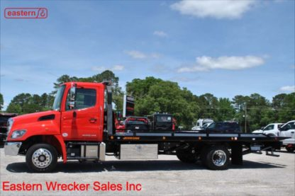 2019 Hino 258ALP-A Air Brake Air Ride with 22ft Jerr-Dan SRR6T-WLP Steel Carrier Stock Number H2667