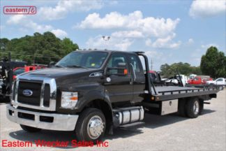 2017 Ford F650 Extended Cab, 6.7L Turbodiesel, Automatic, 21.5ft Chevron Steel Carrier, Stock Number U2739