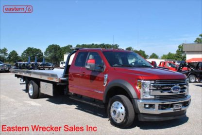 2019 Ford F550 Ext Cab 4x4 Lariat with 20ft Jerr-Dan NGAF6TWLP Aluminum Carrier, Stock Number F9249