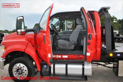 2019 Ford F650 Ext Cab 6.7L Powerstroke 300hp Air Brake Air Ride 22ft Jerr-Dan Steel Carrier, Stock Number F2014