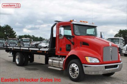 2019 Kenworth T270 Air Brake Air Ride with 22ft Jerr-Dan SRR6TL-WLP Wide Steel Carrier Stock Number K1242