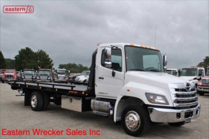 2020 Hino 258LP-B with 22ft Jerr-Dan SRR6T-WLP Wide Low Pro Steel Carrier, Stock Number H1722
