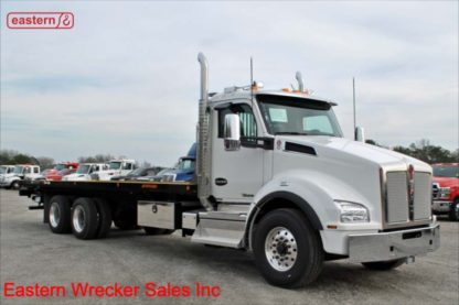 2020 Kenworth T880, 450hp Detroit, Allison 4500RDS Automatic, 28ft Jerr-Dan 15-ton Transporter, Rear Hydraulic Stabilizer, Stock Number K3008