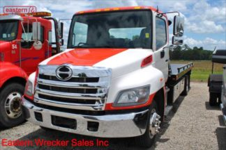 2014 Hino 258, J08E Turbodiesel, Allison Automatic, 21ft Jerr-Dan RRSB Steel Carrier, IRL Wheel Lift, Stock Number U0996