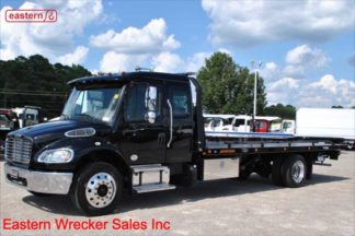2019 Freightliner M2 Ext Cab, 6.7L Cummins 300hp, Allison Automatic, 22ft Jerr-Dan SRR6T-WLP Steel Carrier, Stock Number F5921