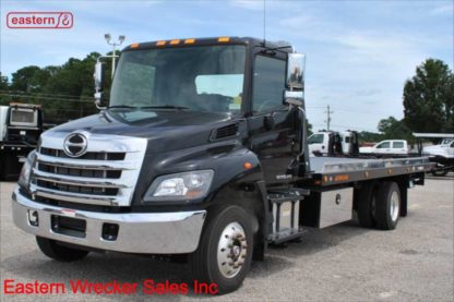 2020 Hino 258ALP-A, Air Brake, Air Ride, with 22ft Jerr-Dan SRR6T-WLP Steel Carrier, Stock Number H2816