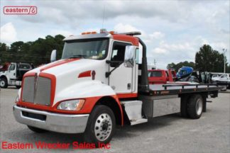 2016 Kenworth, PX-7 Turbodiesel, Allison, Air Brake, Air Ride, 22ft Jerr-Dan SRR6T-WLP 6-ton Steel Carrier, Stock Number U1553