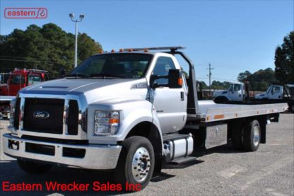 2019 Ford F650, 6.7L Powerstroke, Automatic, Air Brake, Air Ride, 22ft Jerr-Dan NGAF6T-WLP Aluminum Carrier, Stock Number F2111