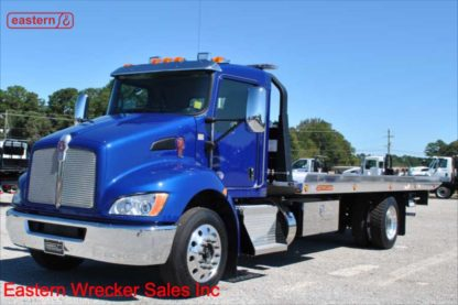 2020 Kenworth T270, Paccar Px-7 turbodiesel, Allison automatic, Air Brake, Air Ride, 22ft Jerr-Dan NGAF6T-WLP Aluminum Carrier, Stock Number K5029