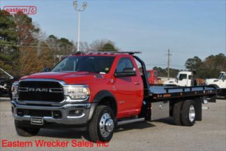 New 2019 Dodge Ram 5500 4x4 SLT, 6.7L Cummins, Automatic, with 20ft Jerr-Dan SRR6T-WLP Steel Carrier, Stock Number D1316