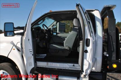 2019 Ford F650 Extended Cab, 6.7L Powerstroke Turbodiesel, Automatic, Air Brake, Air Ride, 22ft Jerr-Dan SRR6T-WLP Steel Carrier, IRL Wheel Lift, Stock Number F0711
