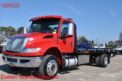 2021 International MV607, Cummins, Automatic, Air Brake, Air Ride, 22ft Jerr-Dan SRR6T-WLP Steel 6-ton Low Profile Carrier, Stock Number I5646