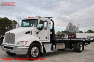 2018 Kenworth T370, 33,000lb GVWR, PX-9 300hp, Allison Automatic, Air Ride, Air Brake, 24ft Jerr-Dan 8.5Ton Carrier, IRL Wheel Lift, Stock Number U5490