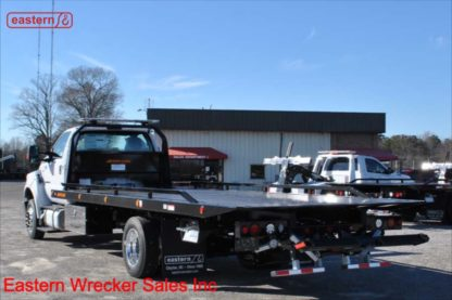 2021 Ford F650, 6.7L Powerstroke Turbodiesel, Automatic, Air Brake, Air Ride, 22ft Jerr-Dan SRR6T-WLP Wide Low Profile Steel Carrier, Stock Number F4501