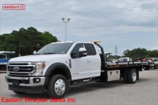 2020 Ford F550 Extended Cab, Lariat, Powerstroke Turbodiesel, Automatic, 20ft Jerr-Dan SRR6T-WLP Low Profile Steel Carrier, IRL Wheel Lift, Stock Number F2119